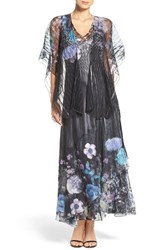 Komarov Women's Charmeuse A Line Dress And Shawl