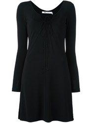 Alexander Wang T By Front Tie Jersey Dress Black