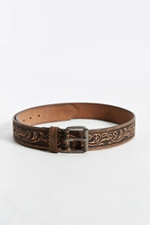 Urban Outfitters Floral Embossed Belt Light Brown
