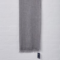Johnstons Of Elgin Silver Lightweight Merino Scarf