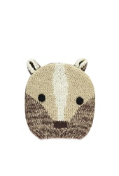 Forever 21 Bear Ears Beanie Tan Multi