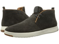 Cole Haan Grandpro Chukka Midnight Grey Oiled Velour Suede Men's Boots Black