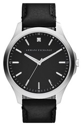 Men's Ax Armani Exchange Leather Strap Watch 46Mm