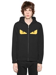 Fendi Monster Eyes Hooded Zip Up Sweatshirt