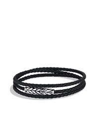 Chevron Triple Wrap Bracelet In Black David Yurman