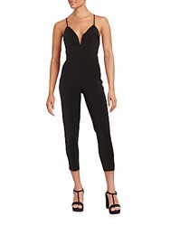 Lovers Friends Solid Cropped Jumpsuit Black