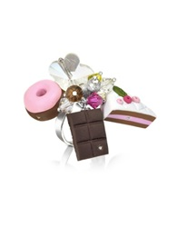Dolci Gioie Sterling Silver Charm Ring Multicolor