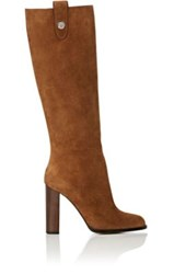 Paul Andrew Women's Osman Suede Knee Boots Tan