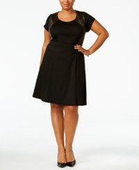 Ny Collection Plus Size Sequined Fit And Flare Dress Glimmer