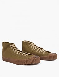 Spalwart Army Green Canvas Special Mid Sneakers
