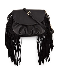 Deux Lux Fringe Crossbody Bag Black