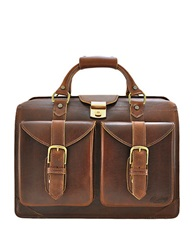 Rawlings Sports Accessories Leather Lawyer Satchel Bourbon