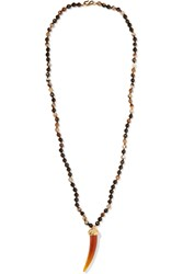 Kenneth Jay Lane Agate Necklace Brown