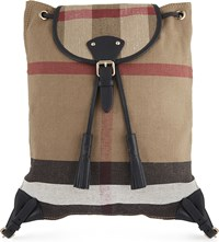 Burberry Chiltern Canvas Backpack Black
