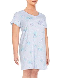 Karen Neuburger Plus Size Floral Sleepshirt Purple