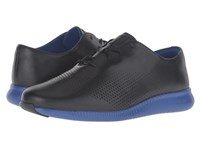 Cole Haan 2.0 Grand Laser Wing Oxford Black Bristol Blue Energy Women's Lace Up Casual Shoes
