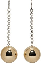 Isabel Marant Gold And Silver Blind Earrings