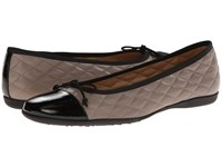 French Sole Passportr Black Patent W Grey Calf Women's Dress Flat Shoes