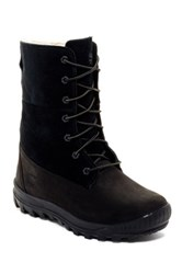 Timberland Faux Shearling Lined Woodhaven Roll Down Boot Black