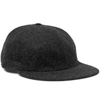 Borsalino Wool Baseball Cap Black