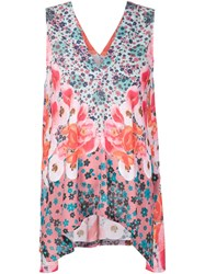 Clover Canyon Poppy Blossom Print Tank Pink And Purple