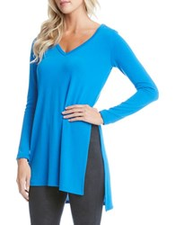 Karen Kane Solid Long Sleeve Tunic Blue