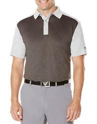 Callaway Golf Performance Color Block Short Sleeved Polo Shirt High Rise