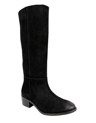 Naughty Monkey Stride Suede Tall Shaft Boots Black