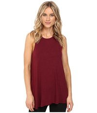 Rvca Label High Neck Tunic Tank Top Scarlet Women's Sleeveless Red
