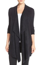 Women's Barefoot Dreams Drape Front Cardigan Midnight