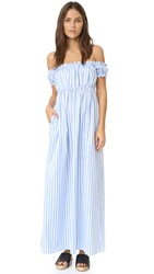 Petersyn Goldie Dress Blue White Stripe