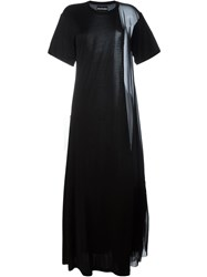 Nicopanda Panelled Maxi T Shirt Dress Black