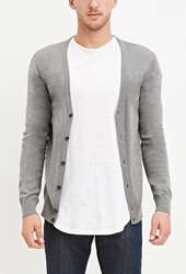 Forever 21 Classic Button Down Cardigan Charcoal Heather