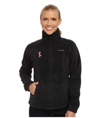 Columbia Tested Tough In Pink Benton Springs Full Zip Black Women's Jacket