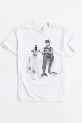 Urban Outfitters David Bowie Dog Tee Taupe
