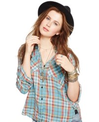 Denim And Supply Ralph Lauren Plaid Linen Utility Shirt Senna Plaid