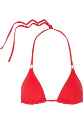 Melissa Odabash Cancun Triangle Bikini Top Red