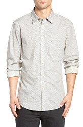Dockersr Men's Dockers Fitted Washed Print Woven Shirt Marble