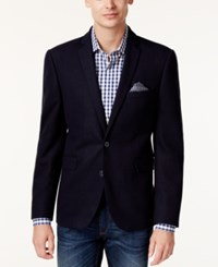 Bar Iii Men's Slim Fit Knit Soft Sport Coat Only At Macy's Blue