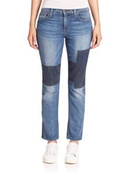 Joe's Jeans Ex Lover Faux Patchwork Straight Ankle Jenni
