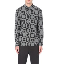 Anglomania Bandana Print Cotton Shirt Black White