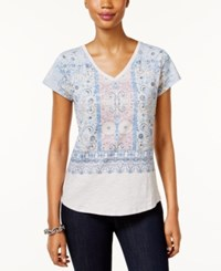 Styleandco. Style Co. Petite Paisley Graphic T Shirt Only At Macy's White Patterns