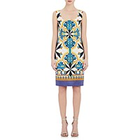 Philosophy Di Alberta Ferretti Women's Geometric Print Sleeveless Shift Dress Size 0 Us No Color
