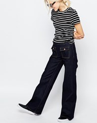Monki Flared Jeans Blue