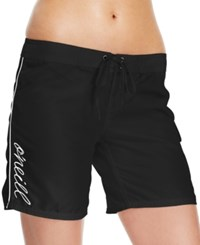 O'neill Cover Up Logo Board Shorts Women's Swimsuit Black