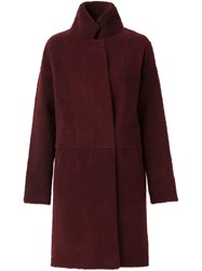 32 Paradis Sprung Freres Reversible Coat With A High Standing Collar Red