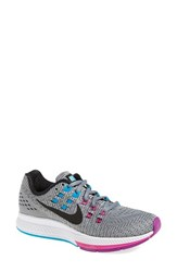 Nike Women's 'Air Zoom Structure 19' Running Shoe Grey Black Fuchsia