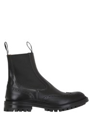 Tricker's Henry Brogue Leather Chelsea Boots