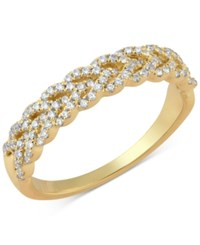 Macy's Diamond Braid Band 1 3 Ct. T.W. In 14K Gold Or White Gold Yellow Gold