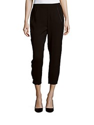 Vince Cropped Jogger Pants Black